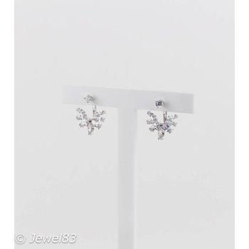 925e Crystal silver earrings