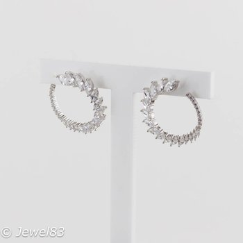 925e Crystal round earrings