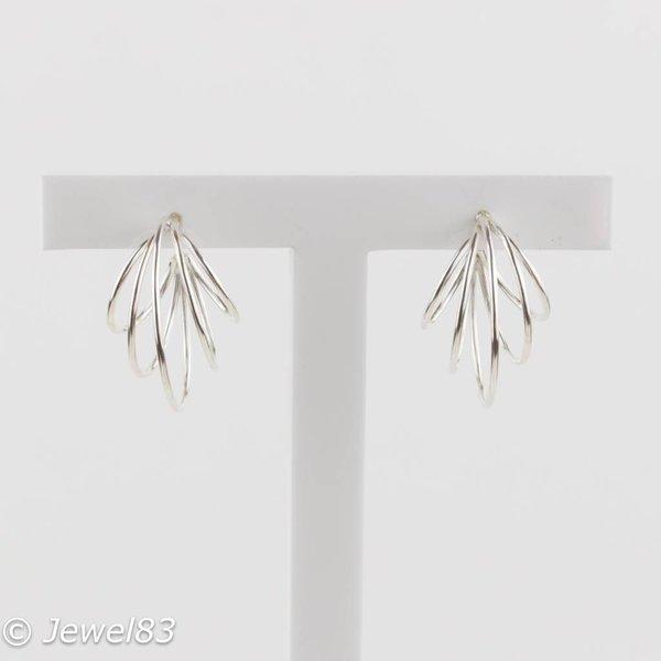 925e Multi hoop silver earrings