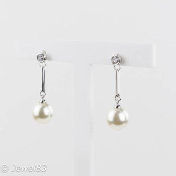 Fiell Zirconia pearl earrings