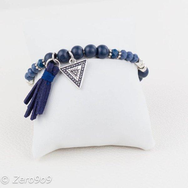Sweet 7 Blue tassel bracelet