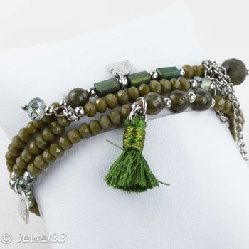 Sweet 7 Green bracelets set