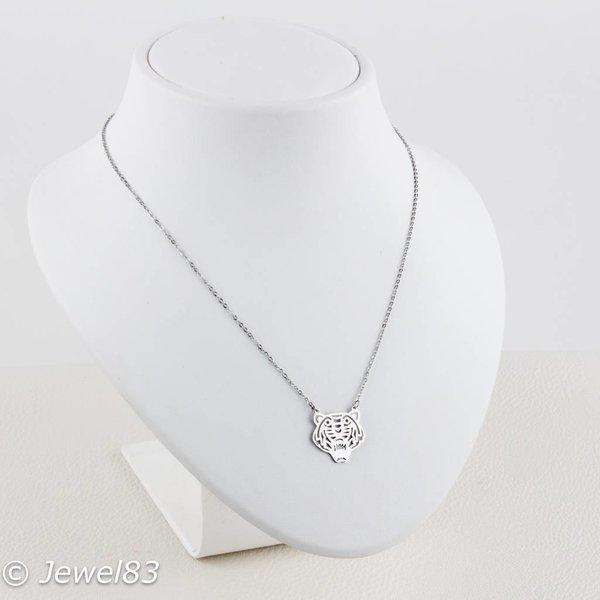DODI Silver tiger necklace