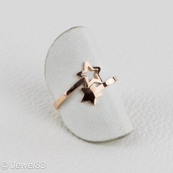 DODI Rose colored star ring