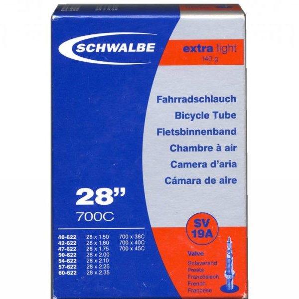 Schwalbe Binnenband Schwalbe SV19A Extralight 27.5 inch / 28 inch / 29 inch Sclaverend/Frans Ventiel