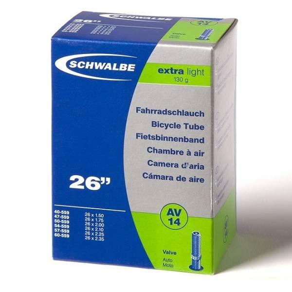 Schwalbe Binnenband Schwalbe AV14 Extralight 26 inch Auto Ventiel / Schrader