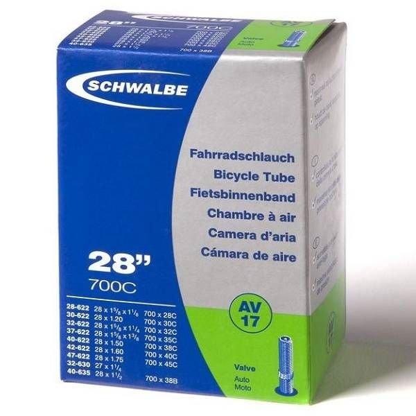 Schwalbe Binnenband Schwalbe AV17 28 inch Auto Ventiel / Schrader