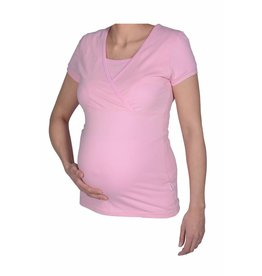 MATERNITY PYJAMA SHIRT PINK LADY