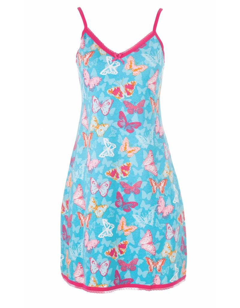 Slipdress Blue Butterfly