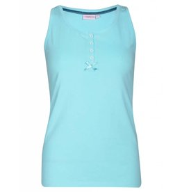 Pyjama Tank Top Light Turquoise