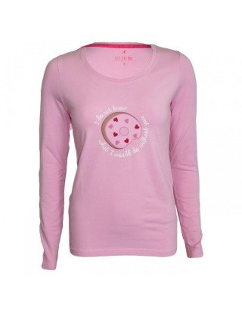 Long Sleeve Pink Donut
