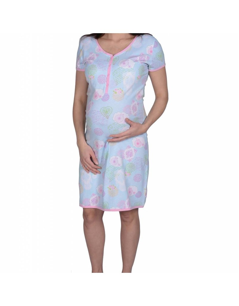 MILLION BICYCLES SHORT SLEEVE DRESS NURSING
