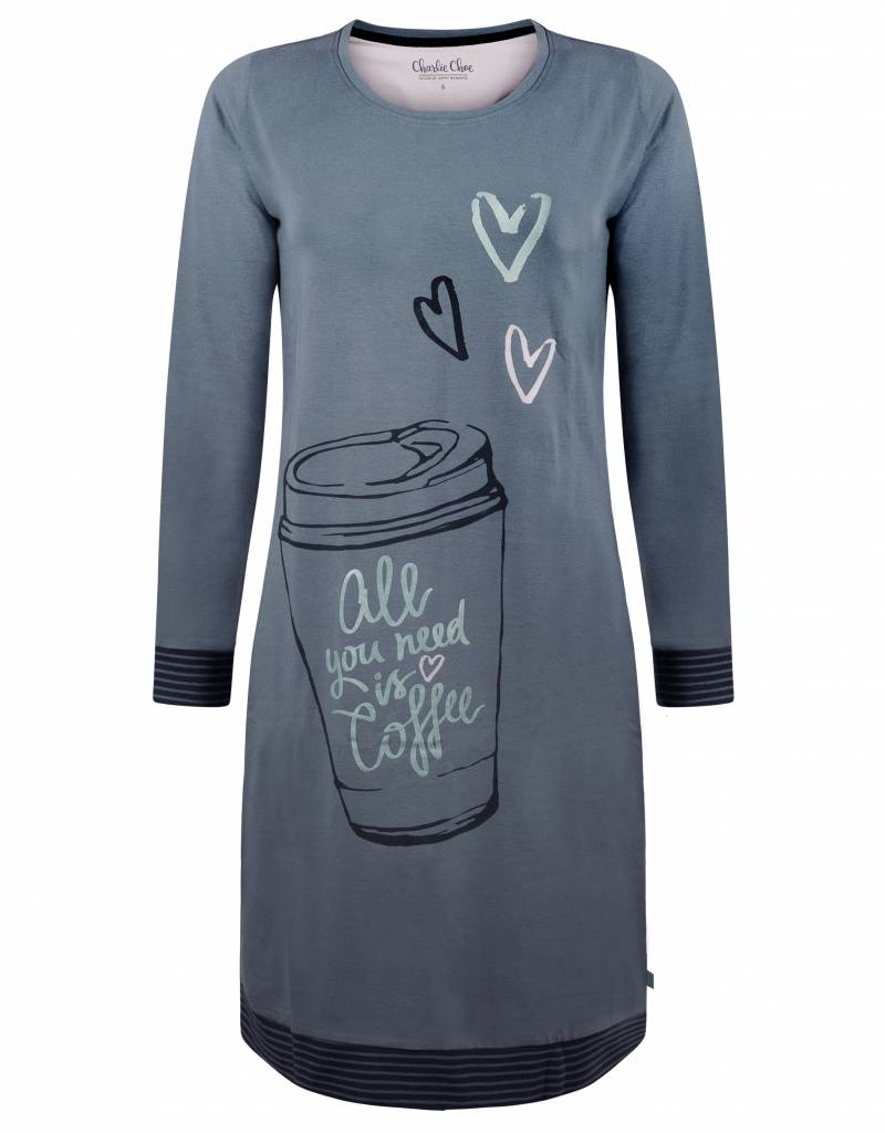 Long Pullover All You Need Is Coffee