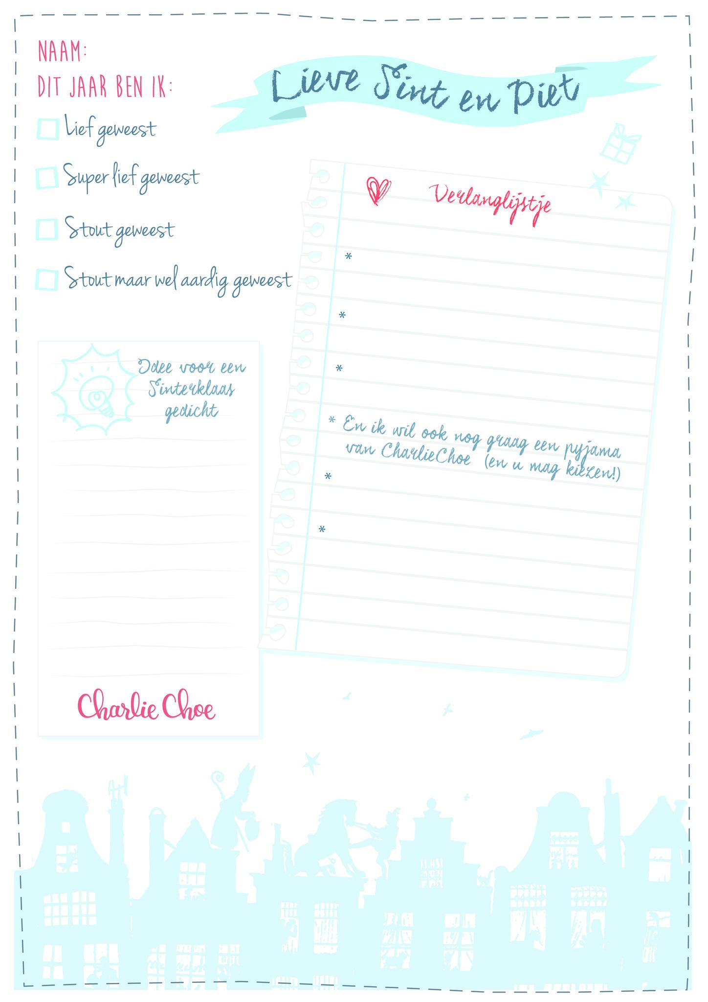 Vaak Blog - Verlanglijstje Sinterklaas - Charlie Choe #DA36