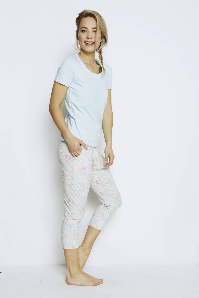 Ladies pyjama T-shirt La Vie Blue Light | Charlie Choe