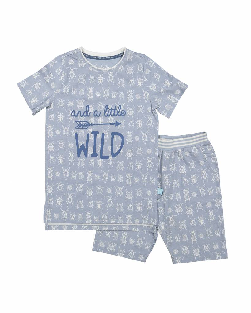 Jongens pyjama short set (long) Little Wild Bug | Charlie Choe