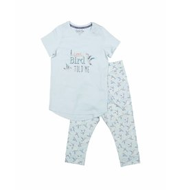 Pyjama Set  3/4 Little Bird Blue Glow