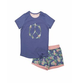 Pyjama Short Set Peace Flowerchild