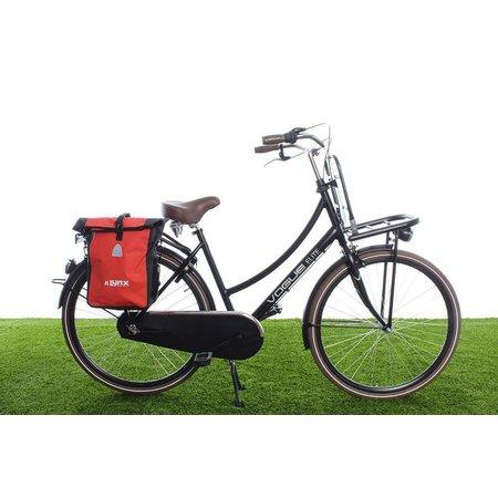 Lynx Enkele fietstas Single Pannier bag 21L Rood-zwart