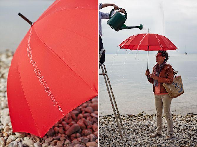Regenschirm mit Stadtsilhouette