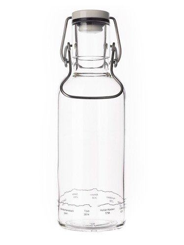 Fill me-Bottle mit Alpensilhouette