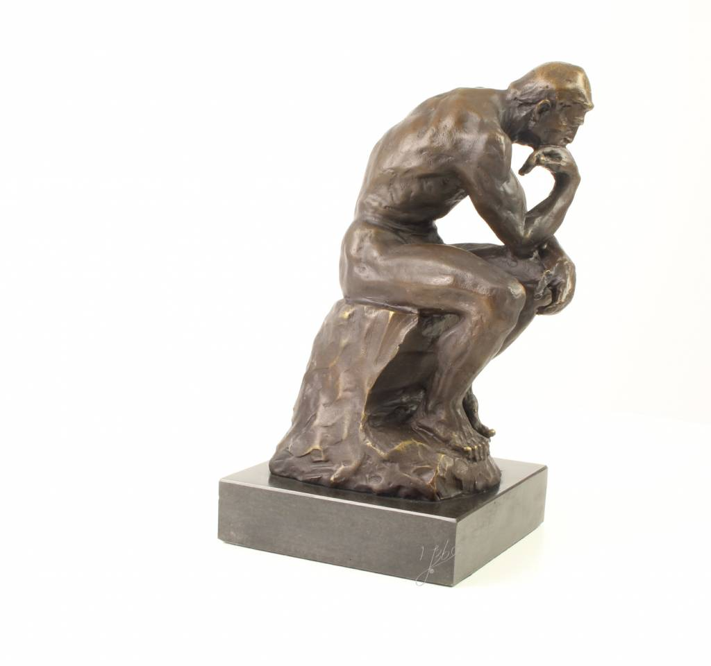 bronze sculpture of rodin s the thinker for sale yourbronze com