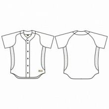 Jersey53 Baseball Jersey - Slide Full Button