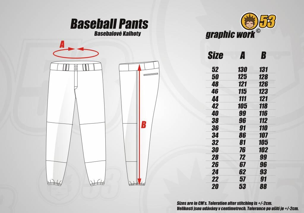 Jersey53 Baseball Pant - regular