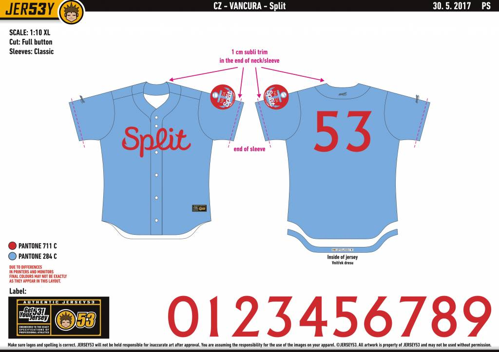 Jersey53 Nada SM Split game jersey - away
