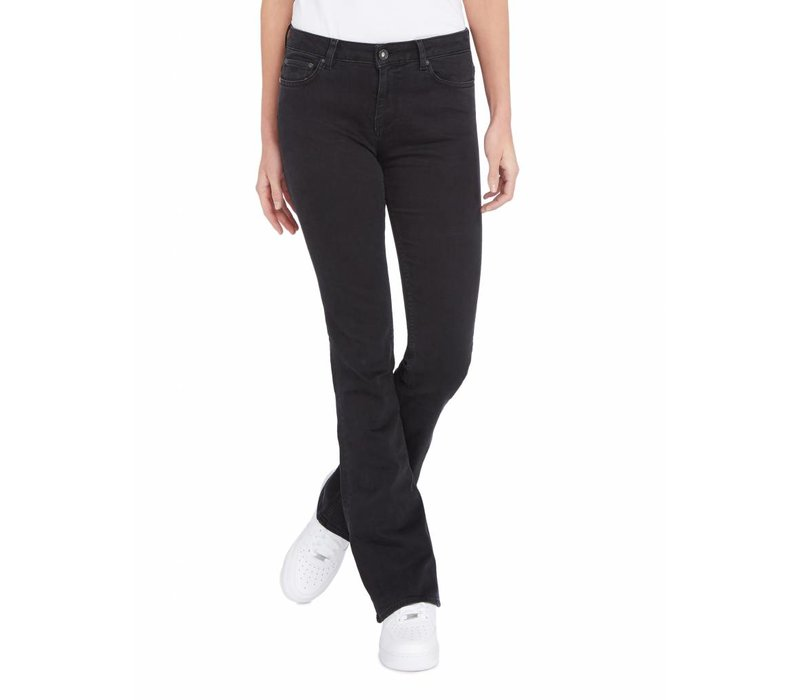 PUREWHITE THE SOUL 11 FLAIR JEANS BLACK