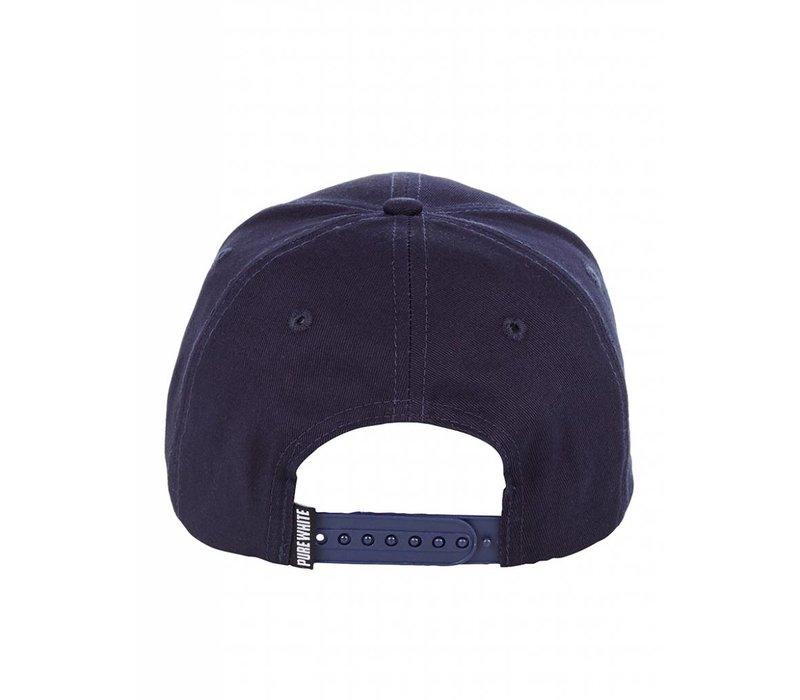 PUREWHITE LOGO CAP NAVY