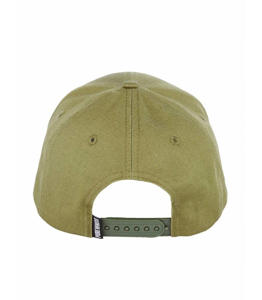 PUREWHITE LOGO CAP ARMY