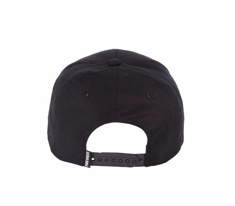 PUREWHITE LOGO CAP BLACK