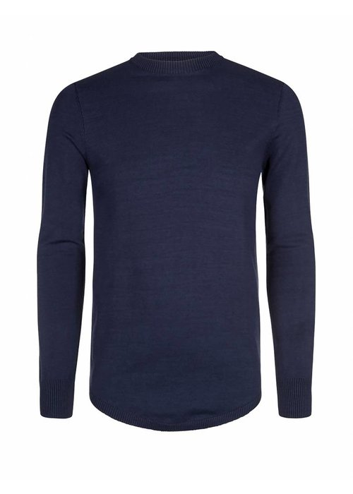PUREWHITE KNITTED CREWNECK  NAVY