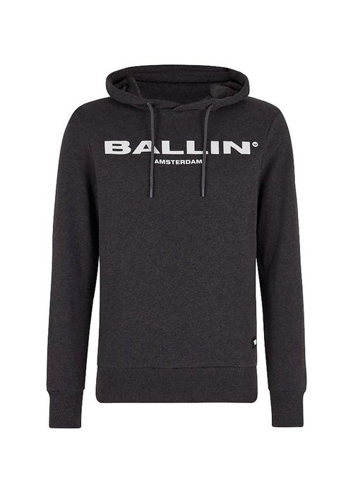 BALLIN ORIGINAL MEN HOODIE ANTRACITE