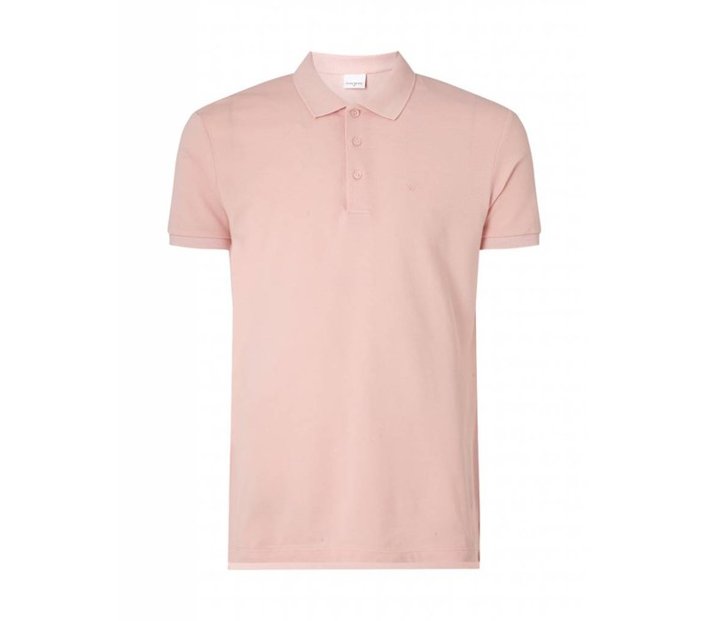 PUREWHITE CLASSIC PIQUE POLO BABY PINK