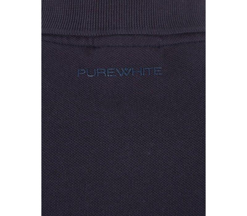 PUREWHITE CLASSIC PIQUE POLO NAVY