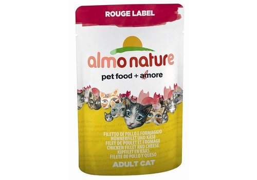 Almo 24x almo nature cat rouge label kipfilet/kaas