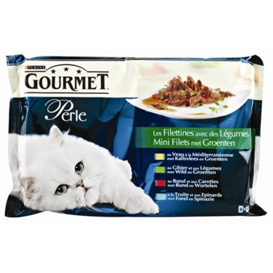 12x gourmet perle 4-pack pouch mini filets met groenten
