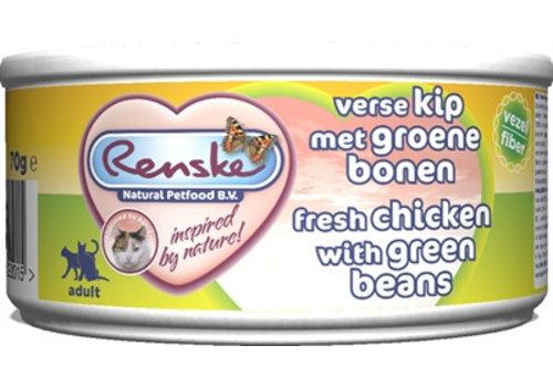 Renske 24x renske vers vlees maaltijd kat verse kip met groene bonen vezels