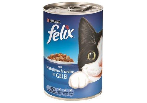 Felix 12x felix blik stukjes kabeljauw / sardine in gelei