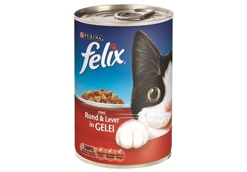 Felix 12x felix blik stukjes rund / lever in gelei