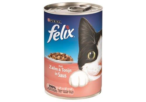 Felix 12x felix blik brokjes zalm / tonijn in saus