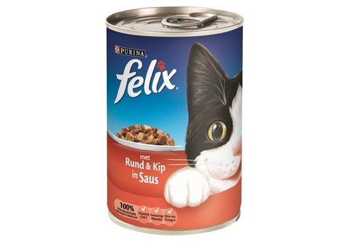 Felix 12x felix blik brokjes rund / kip in saus