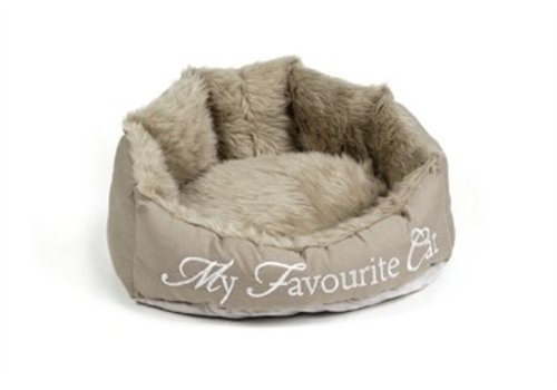 Designed by lotte Dbl mand my favourite cat beige