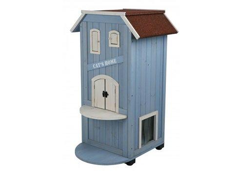 Trixie Trixie kattenhuis cat's home 3 verdiepingen licht blauw / wit