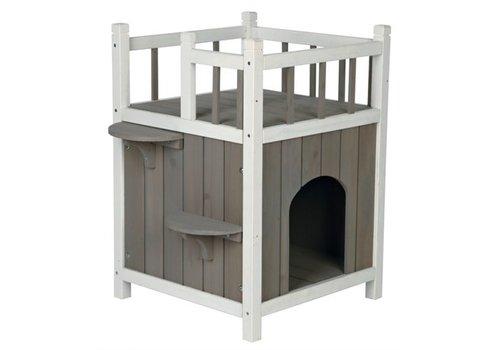 Trixie Trixie kattenhuis cat's home met balkon grijs / wit