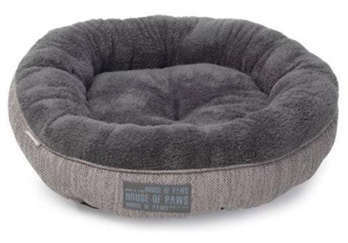 House of paws House of paws kattenmand donut hessian grijs