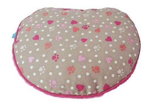 Lief! Lief! kattenkussen voor koffer girls beige/roze