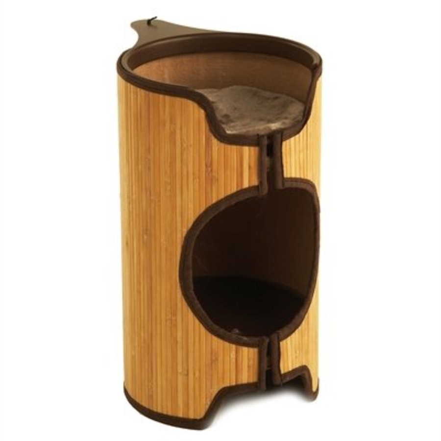 Jolly moggy kattenmand cat tower bamboe
